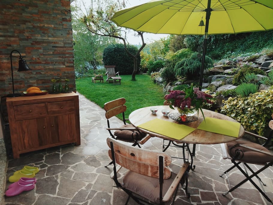 A private garden table for long summer evening talks.