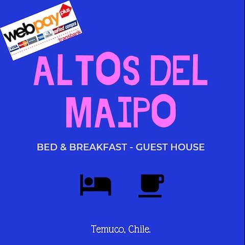 Hab. Doble_B&B Altos del Maipo Temuco Chile.
