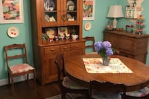 The house is filled with antiques and artwork with plenty of options to sit and visit or work if necessary.