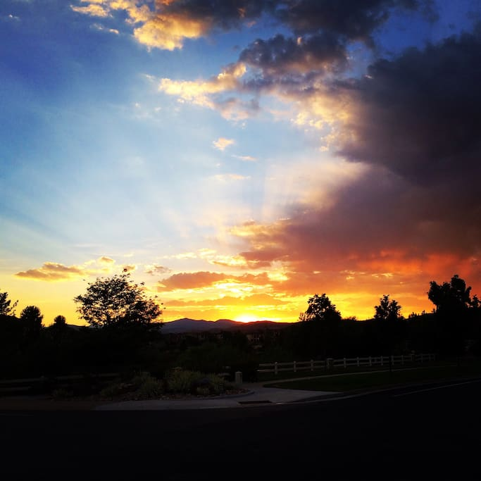 Colorado sunsets are always amazing! This one was taken right down the street from our home.