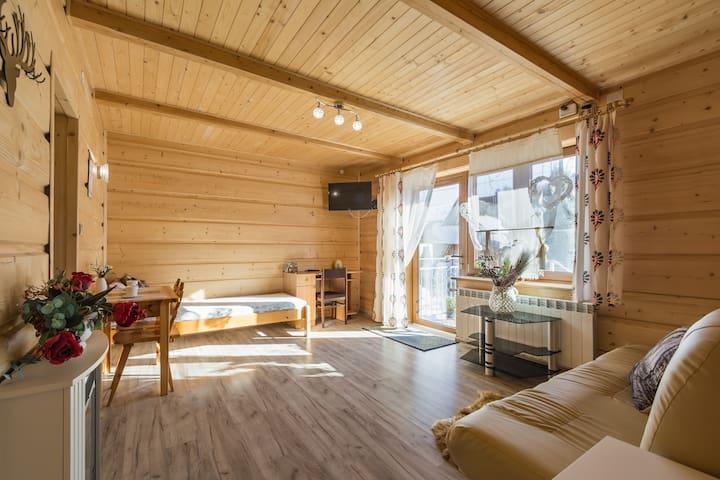 Apartament z jedną sypialnią w Mazurkowym Gościńcu