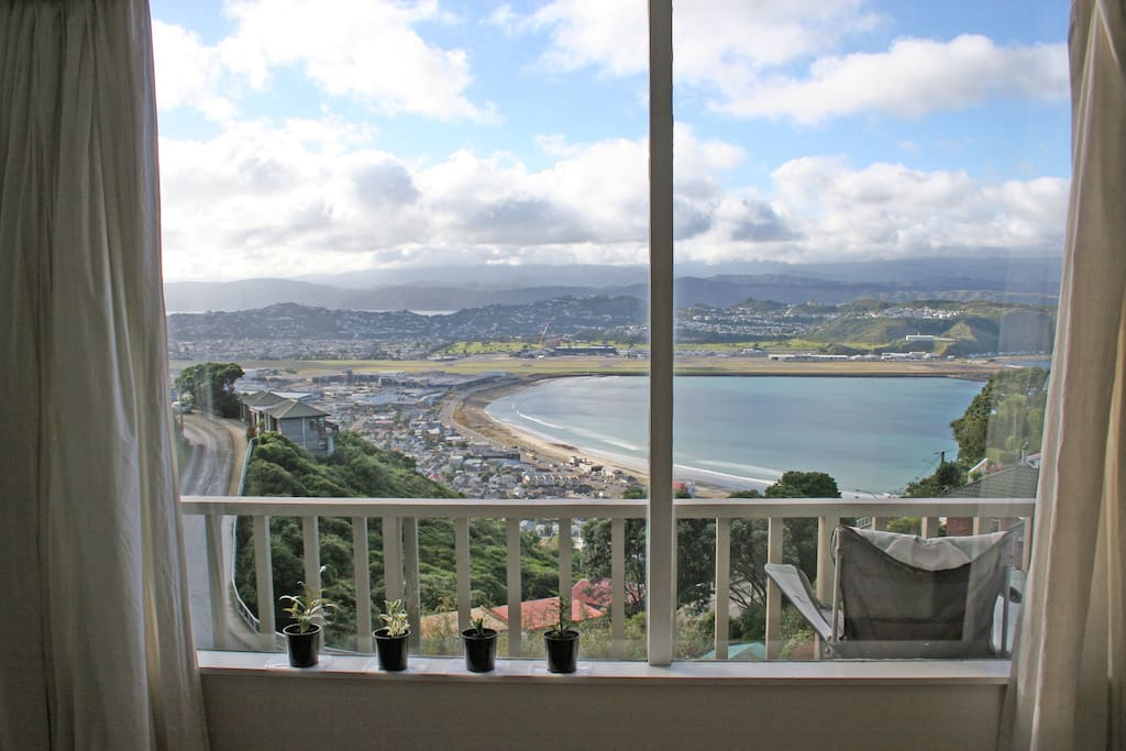 View of Lyall Bay from Lounge