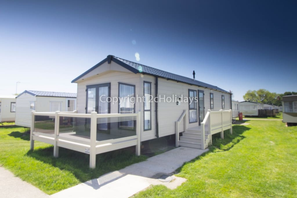 6 berth caravan for hire at Broadland Sands Holiday Park