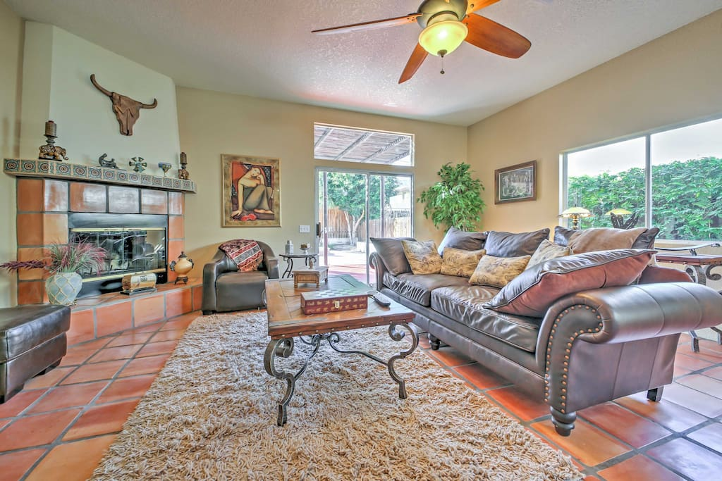Inside, the home boasts 1,600 square feet of well-appointed living space.
