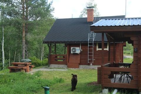 Peaceful Lestijoki River Log Cabin