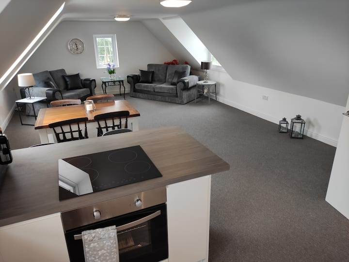 Large Loft Apartment in Camelford, North Cornwall.