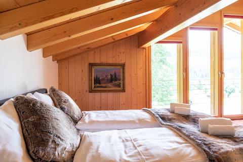 Grosszügiges Alpine-chic Apartment bis 10 Personen