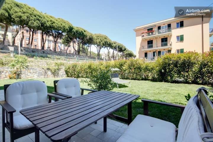 Accogliente appartamento con giardino privato