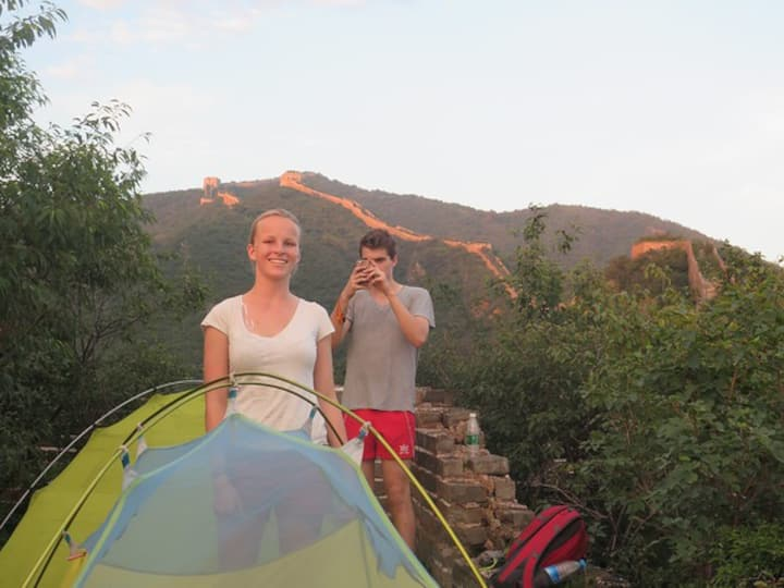 Tent on the Great Wall 长城上的帐篷