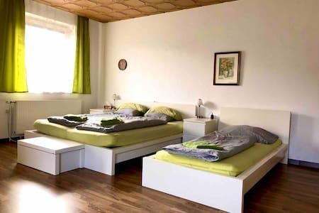 40 m2 großes Zimmer mit WC, Balkon und Kochnische