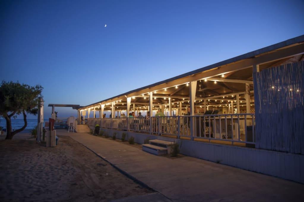 la trattoria in spiaggia