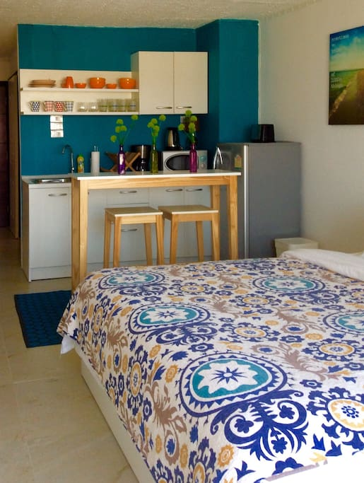 Enjoy your newly renovated condo with very comfortable mattress for a good nights rest after exploring the beautiful city!
