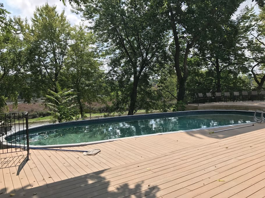 Large Deck with Swimming Pool