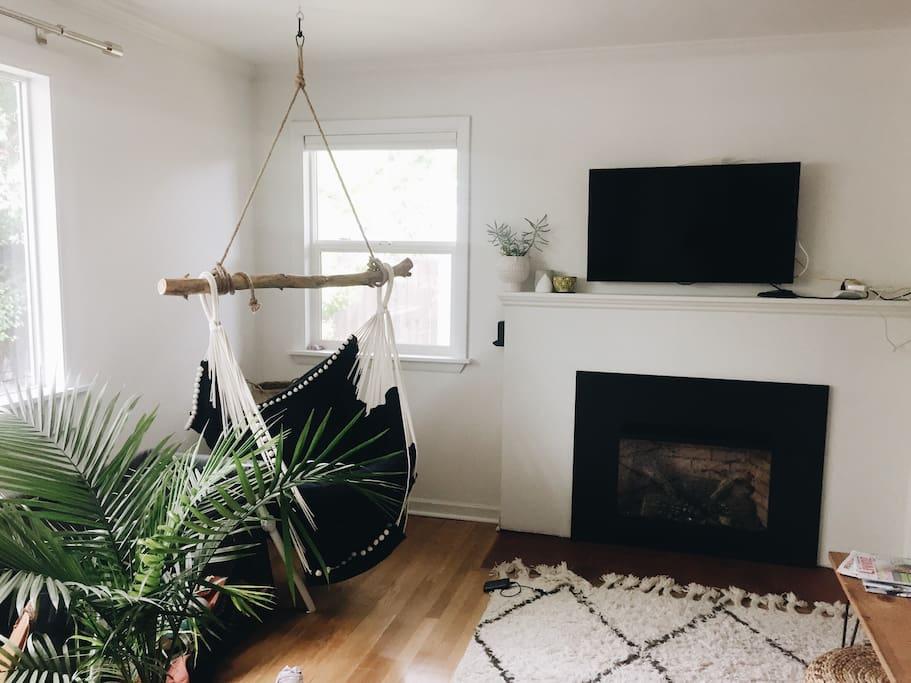 Living room + lounge chair