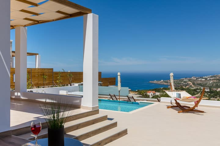 Villa Myrtia, coastal vistas