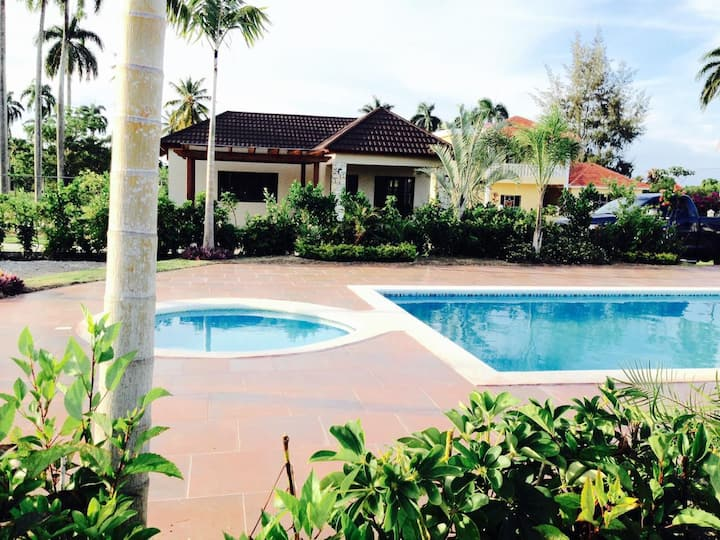 2 br with pool in center of Cabrera.