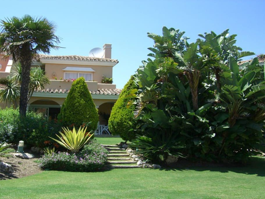 View of the house from the common garden