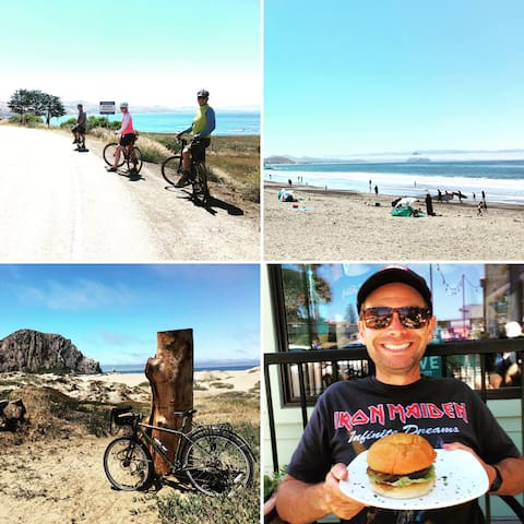 The Bridge Street Inn muesli amazed me again. One bowl gave me the energy to bicycle the 22 miles from Cambria to Morro Bay ending the journey with a House of JuJu portobello mushroom burger.
