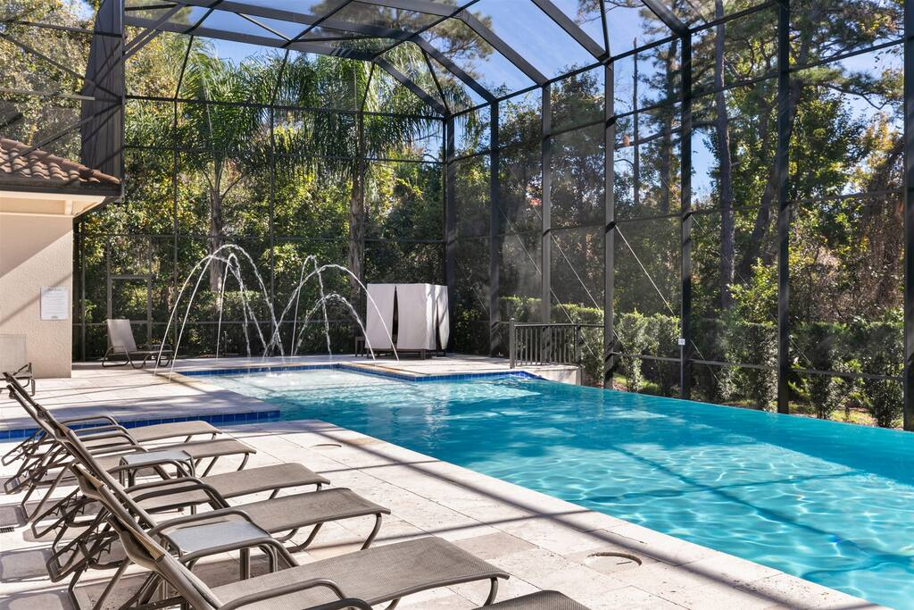 A gorgeous south facing pool ensures that you will have sun all day at your pool