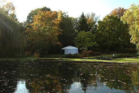 Idyllic lakeside Yurt