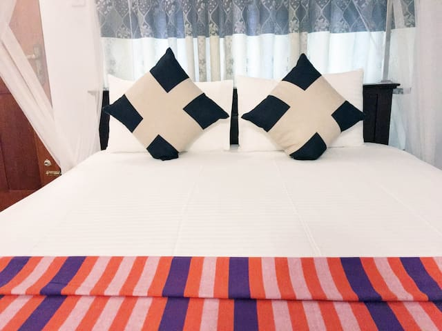 Nudara Holiday Inn , Bed Room No 6, Fully covered Mosquito net, Blanket and 100% Cotton Pillows