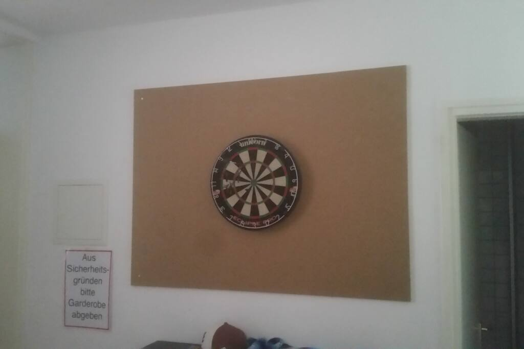 Sports activity inside the flat - you can play darts here ;)