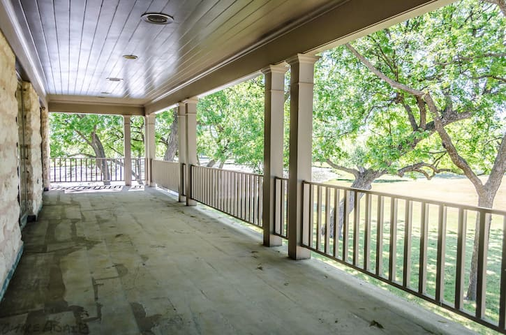 Porch outside of Master Bedroom and Upstairs Bedroom