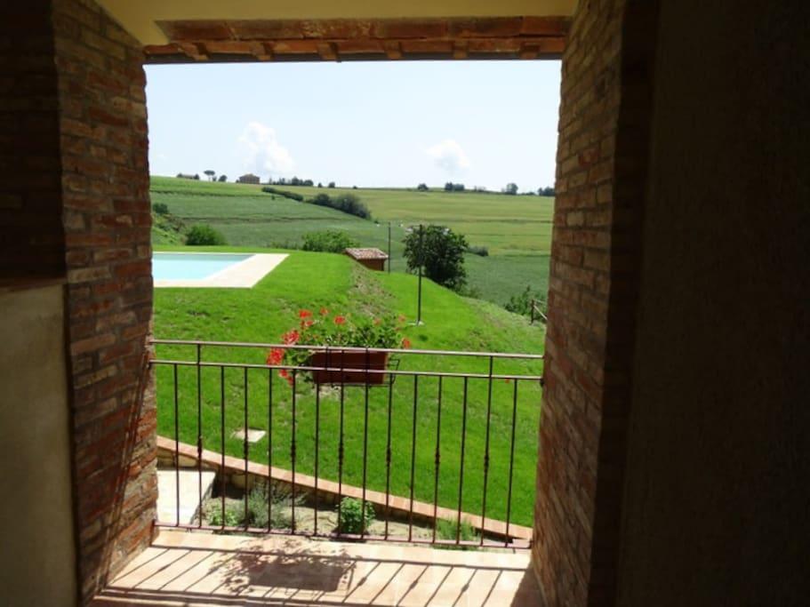Terrazzo privato con vista panoramica