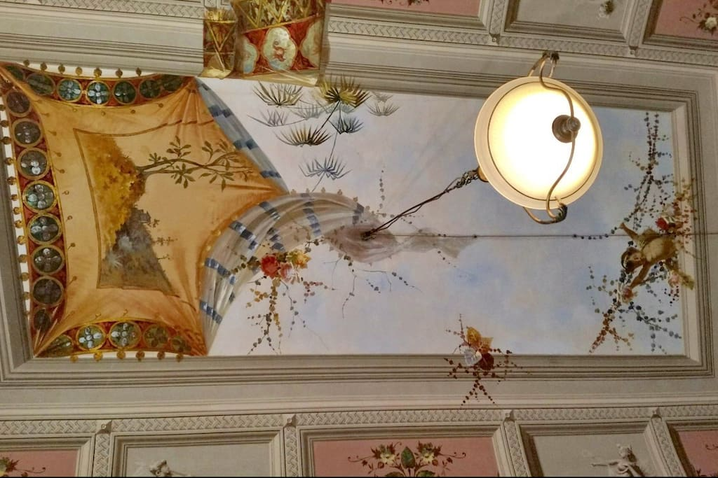 ceiling with fresco