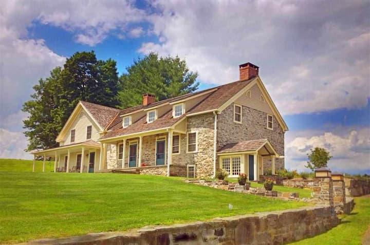 Stone Farmhouse and Pool on 92+ Acres