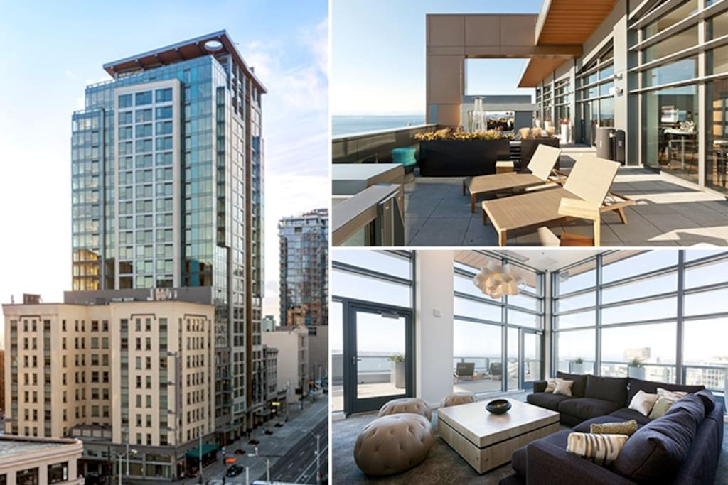 2 br penthouse overlooking pikes place market apartments for Seattle view apartments