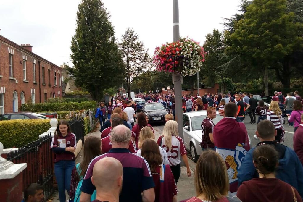 Galway supporters on way to Croke Park 2017