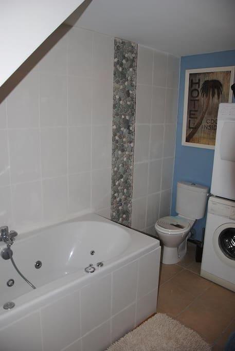 la salle de bain et ses toilettes privées