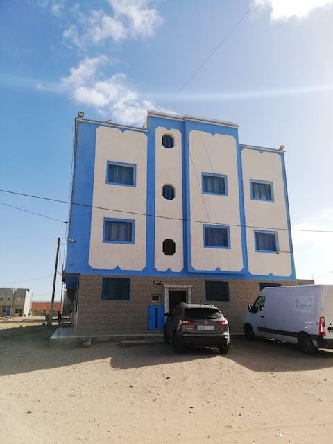 Appartamento con 2 stanze a Akhfennir, con splendida vista mare, terrazza e WiFi - 500 m dalla spiaggia