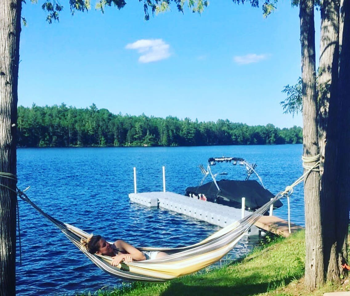 Waterfront hammock- nothing better!