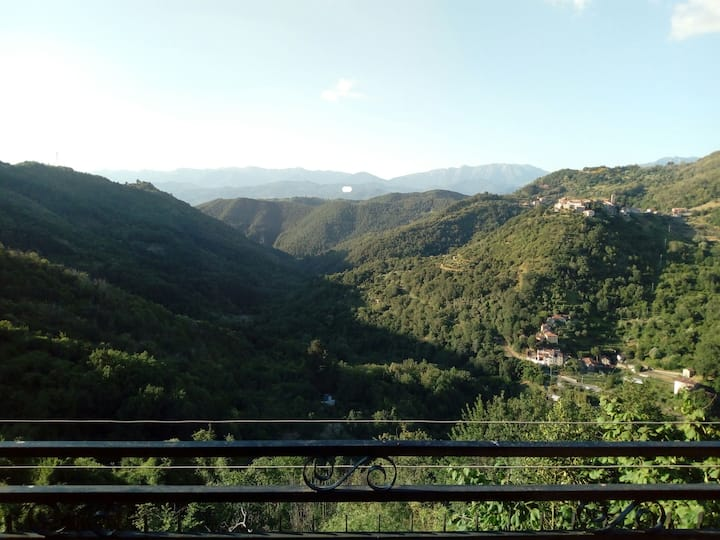 Splendid views from the terrace on the apuane alps