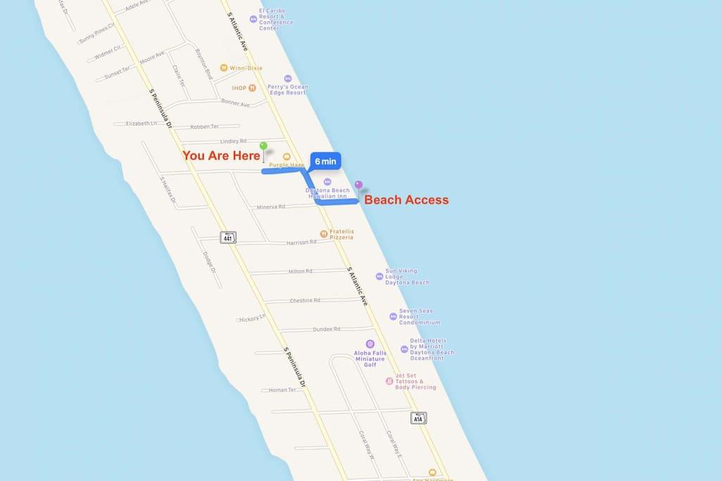 Close walk to the beach!