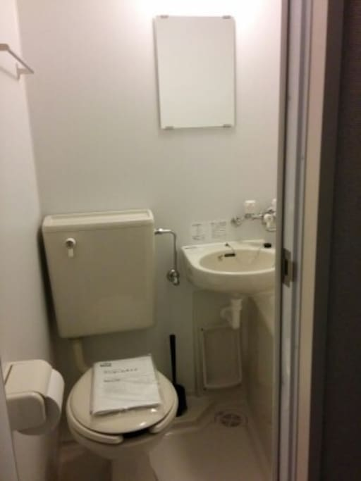 This rooms toilet and bath