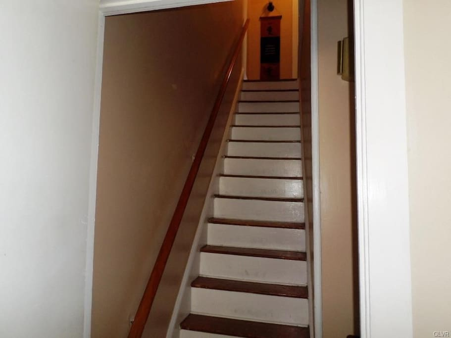 stairs leading up to your room