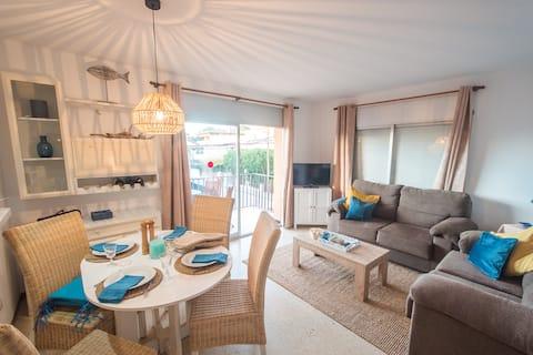 Apartament familiar per a vacances a la platja a Espanya + WIFI