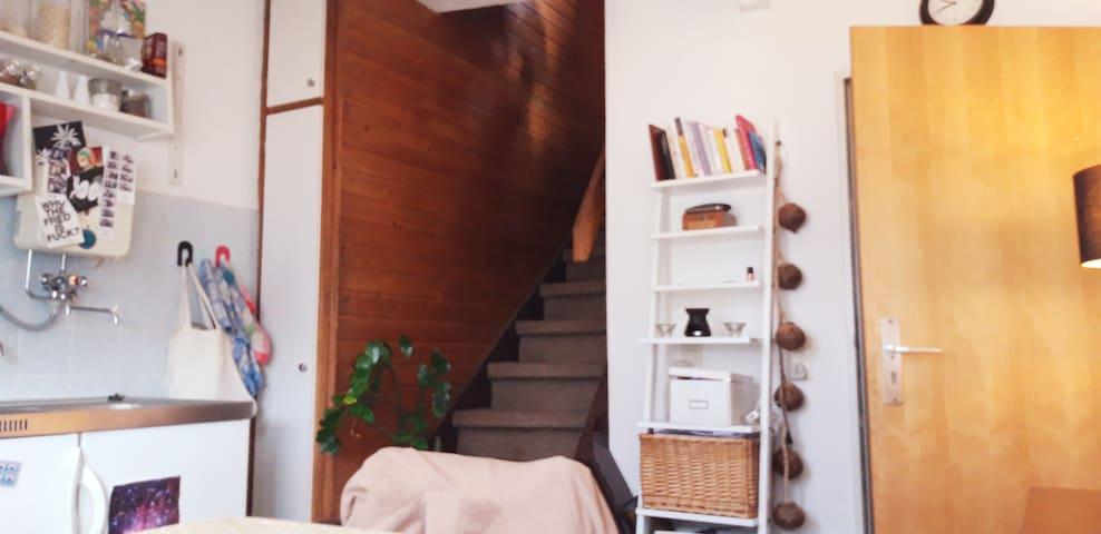 Weg ins Schlafzimmer/ Way to the bedroom