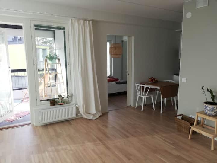 Modern flat (2 rooms, 39sqm) in Laajasalo