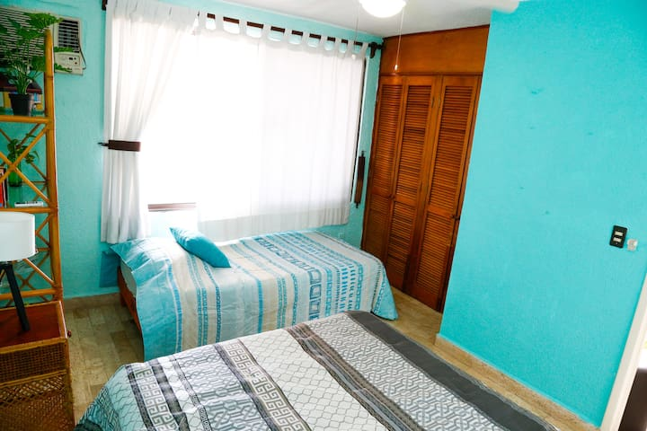 Second Room with two beds (for up to three people)