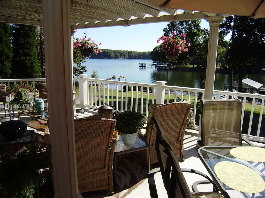 Relax and enjoy the view from the deck.