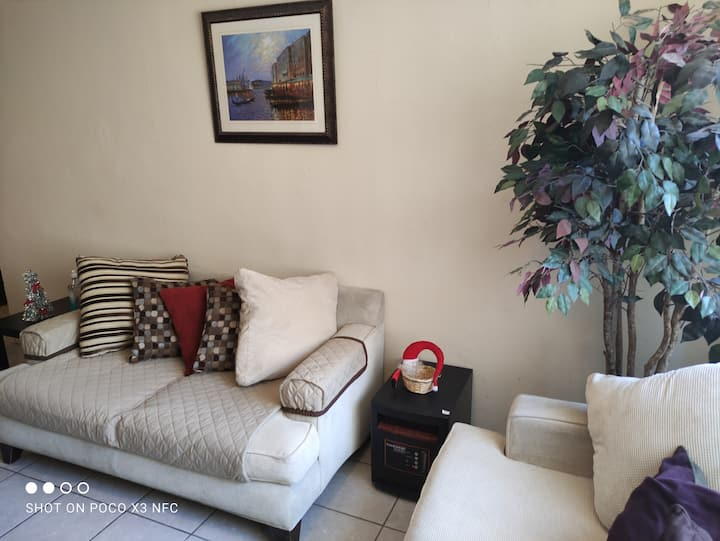 Apartment, comfortable place with security guard.