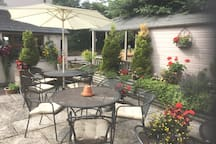 Enjoy some time on our patio terrace.