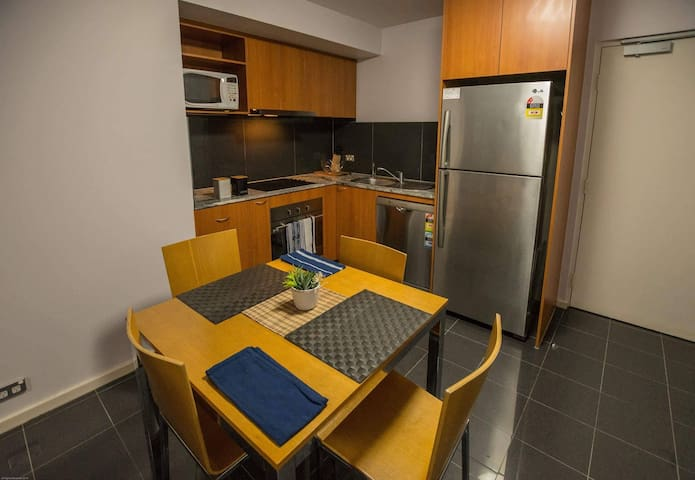 Dining and Kitchen - CBD Apartment