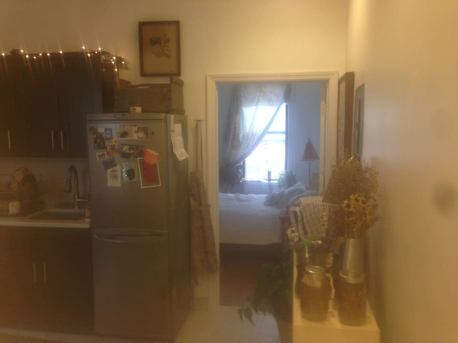 Fully equipped eat in  kitchen, may use during your stay