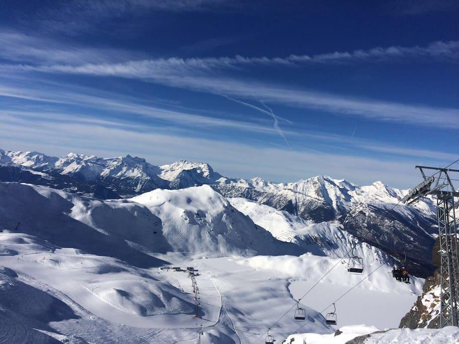 Verbier 4 valleys ski system
