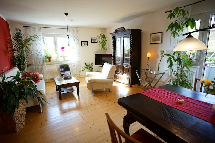 Spacious Apartment with Balcony - Jena - Daire